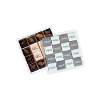 Clear plastic box with 16 x 5g Belgian chocolates