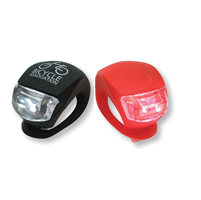 Silicon bike light