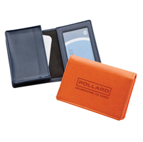 Belluno Leatherette Deluxe Business Card Dispenser with Framed Window Pocket